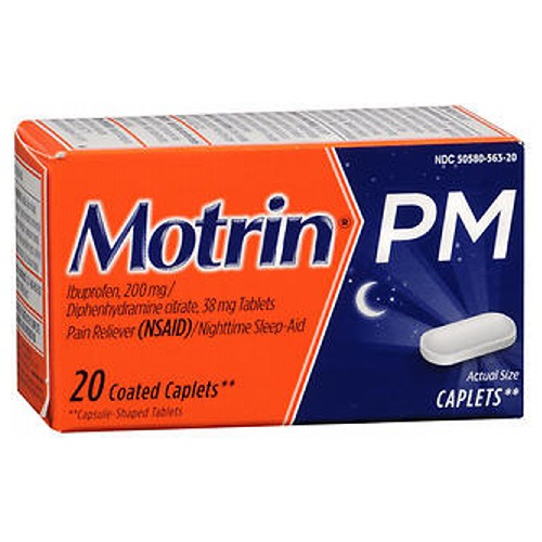 Motrin Pm Coated Caplets - 20 caplets