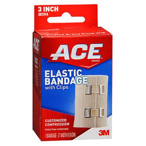 Ace Elastic Bandage With Clips - 3 inches 1 each