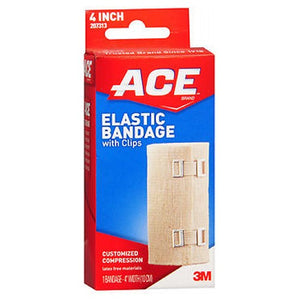Ace Elastic Bandage With Clips - 4 inches 1 each