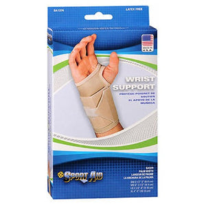 Sportaid Wrist Brace For Carpal Tunnel Beige Left Medium 1 each
