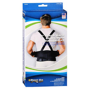 Sportaid Back Belt With Suspenders Black X-Large 1 each