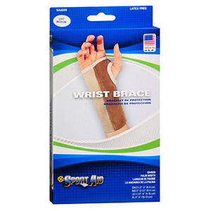 Sportaid Wrist Brace Palm Stay - Beige Left Medium 1 each