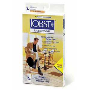 Jobst Formen Knee High Socks Moderate Compression White Extra Large each