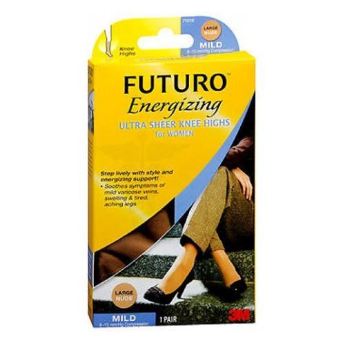 Futuro Energizing Ultra Sheer Pantyhose Brief Cut Lace Panty For Women Large each by 3M