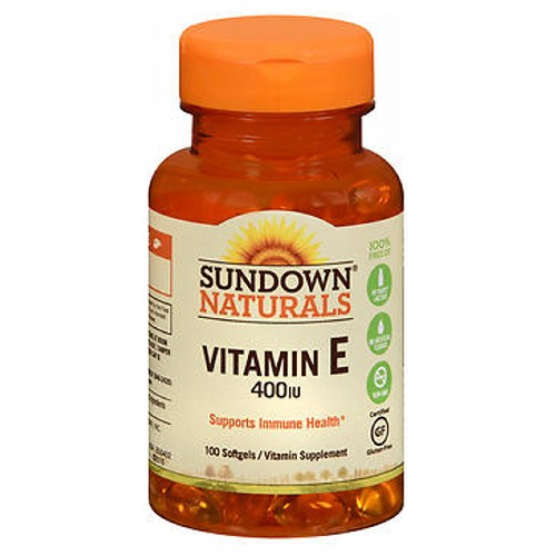 Sundown Naturals Vitamin E 100 caps by Sundown Naturals Vitamin Supplement Promotes Immune Health  Heart Health* Preservative Free