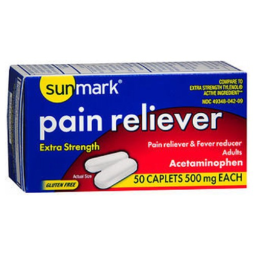 Sunmark Pain Reliever 50 tabs by Sunmark