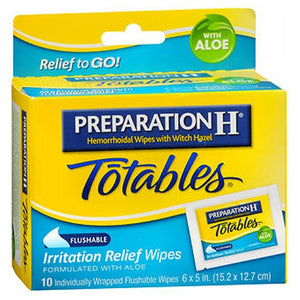 Preparation H Hemorrhoidal Wipes With Witch Hazel Flushable Wipes - 10 each