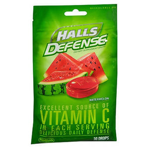 Halls Defense Vitamin C Drops - Watermelon 30 each