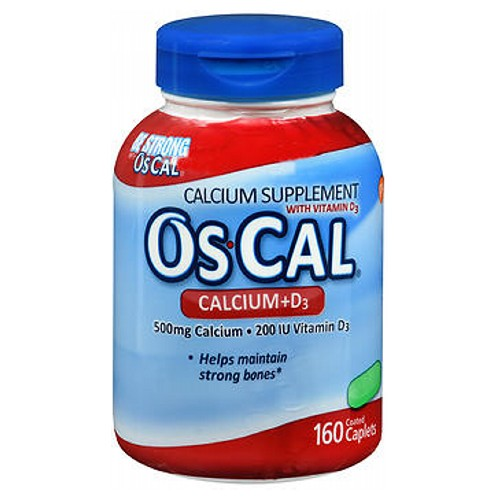 Os-Cal Calcium Tablets With Vitamin D 160 tabs by Os-Cal Calcium Supplement with Vitamin D3Easy to SwallowProves Effective in More ClinicalsHelps Reduce the Risk of Hip Fractures by 29%*