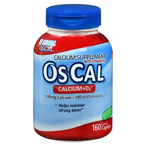Os-Cal Calcium Tablets With Vitamin D - 160 tabs