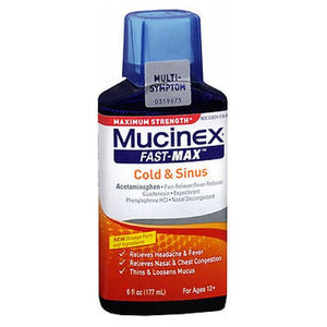 Mucinex Fast-Max Adult Liquid For Cold And Sinus 6 oz