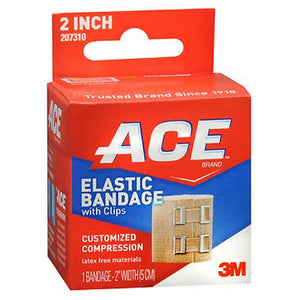 Ace Elastic Bandage With Clips 2 inches 1 each by Ace
