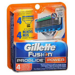 Gillette Fusion Proglide Power Cartridges - 4 each