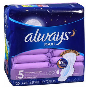 Always Extra Heavy Overnight Maxi Pads With Flexi-Wings - 20 each