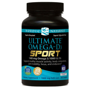 Ultimate Omega-D3 Sport 60 Softgels by Nordic Naturals
