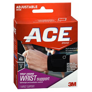 Ace Wrap Around Wrist Support Black,1 each