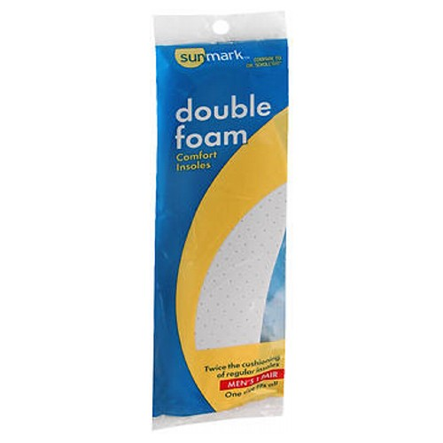 Sunmark Double Foam Comfort Insoles Mens - 1 each