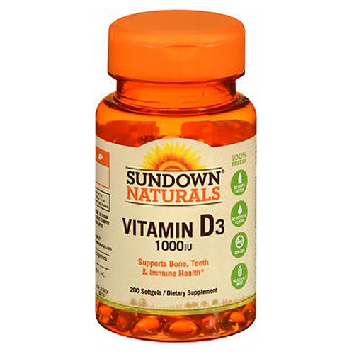 Sundown Naturals High Potency Vitamin D3 100 caps by Sundown Naturals Vitamin Supplement Supports Bone and Immune Health* Strawberry Banana Flavor