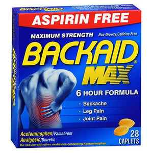 Backaid Maximum Strength Back Relief Pills 28 tabs by Backaid