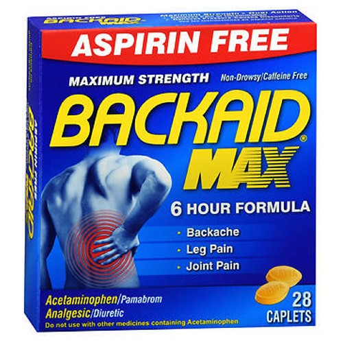 Backaid Maximum Strength Back Relief Pills 28 tabs