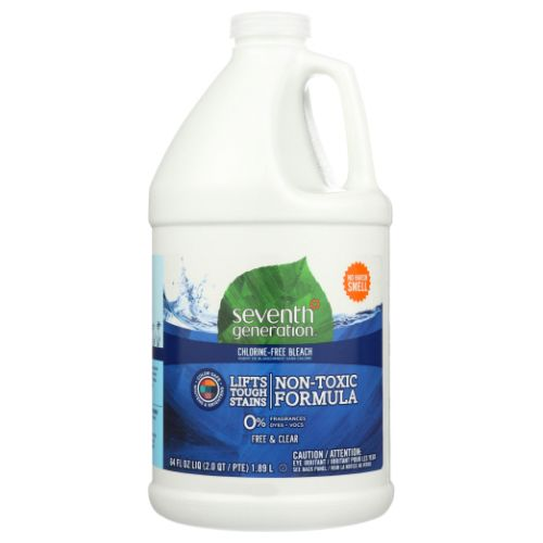 Chlorine Free Bleach Free and Clear 64 Oz by Seventh Generation