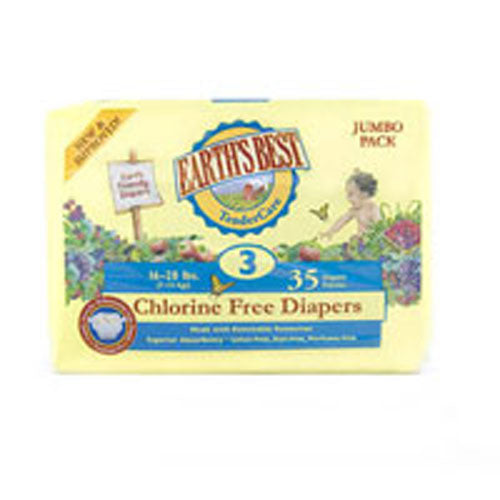 Chlorine Free Diapers Size 3, 4 X 35 Count by Earth's Best