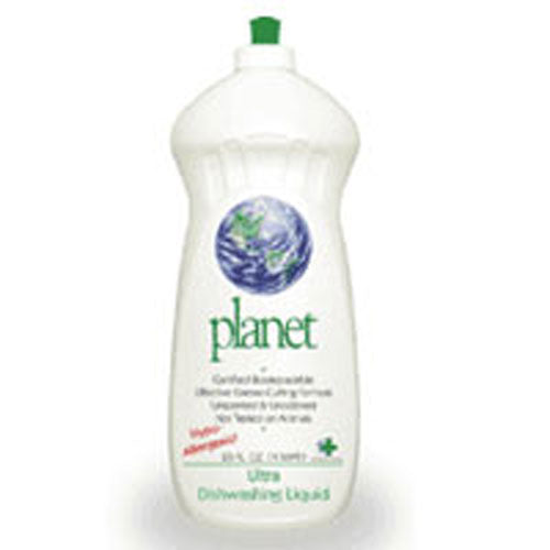 Ultra Dishwashing Liquid 25 OZ(case of 12) by Planet Inc. Certified Biodegradable Effective Grease-Cutting Formula Hypo-AllergenicNot Tested on Animals SCS Certified Biodegradable Breaks Down into CO2, Minerals and Water.Unscented & Uncolored