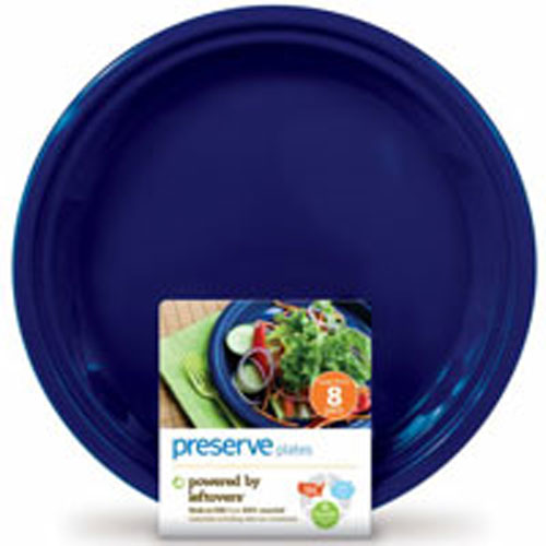 Reusable Plastic Plates Large Midnight Blue 8 CT by Preserve 100% Recylced PlasticBPA FreeMade in USA from 100% Recycled Materials Including Take-Out ContainersNothing Wasted. Everything GainedOne Day a Take-Out Container, The Next Day a Plate Powered by LeftoversReusable - Dishwasher Safe