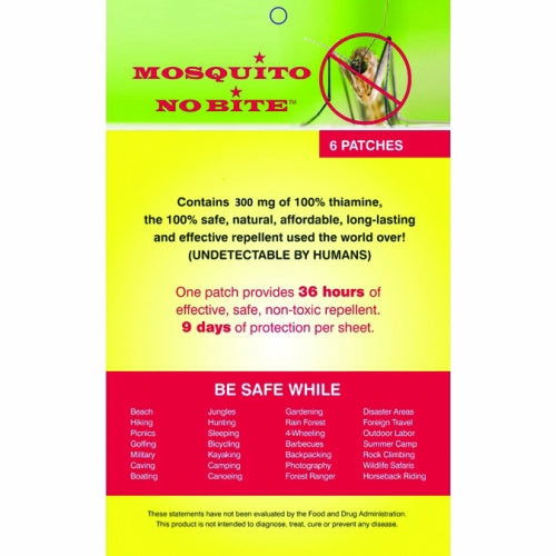 Mosquito No Bite Patch - 6 Count