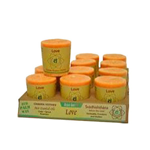 Chakra Energy Votive Candle - Love 2 oz(case of 12)