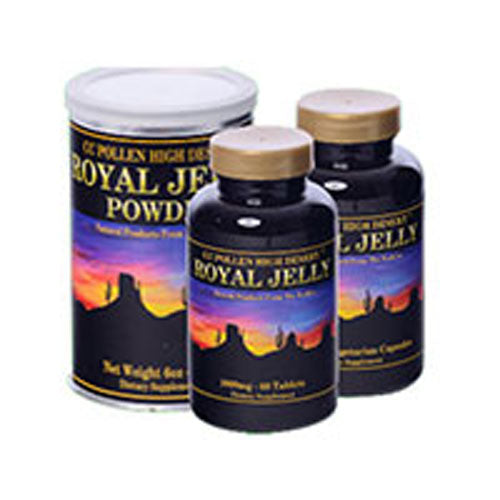 Royal Jelly Powder 15 OZ by Cc Pollen The Queen bee can live up to 40 times longer than the typical bee solely due to her diet of Royal Jelly. Contains protein, amino acids, vitamins, trace minerals, nucleic acids, phospholipids, and more.