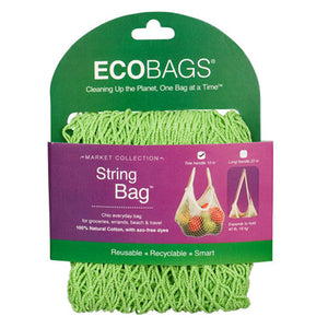 Clasic String Bag Tote Handle Lime Each