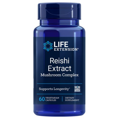 Reishi Extract Mushroom Complex 60 Veg Caps by Life Extension