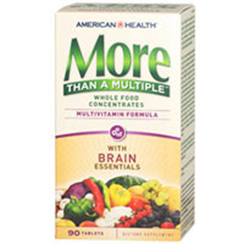 More Than A Multiple Tablets Brain Essentials 90 TABS by American Health Considered as Dietary SupplementMultivitamin Formula Whole Food Concentrates