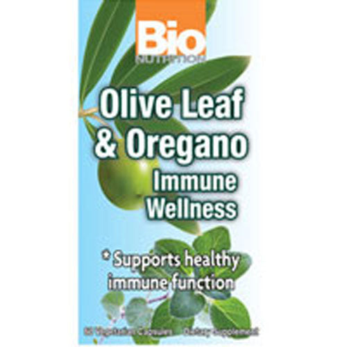 Olive Leaf and Oregano Immune Wellness 60 VEG CAPS by Bio Nutrition Inc