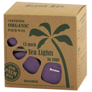 Tea Light Candles Unscented Lavender 12 pack