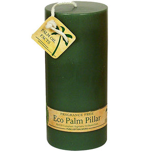 Eco Palm Wax Candles Unscented Pillars Green 6 COUNT - Unscented Pillars Green 6 COUNT(Out of Stock)