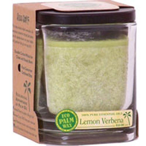 Eco Palm Square Jar - Lemon Verbena Melon 8 oz
