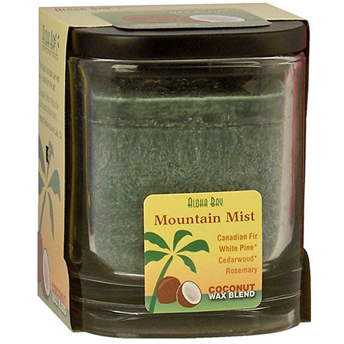 Eco Palm Square Jar Mountain Mist Dark Green 8 oz by Aloha Bay