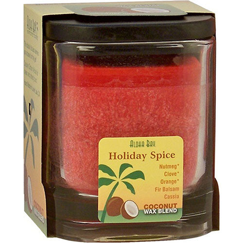 Eco Palm Square Jar - Holiday Spice Red 8 oz