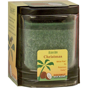 Eco Palm Square Jar - Christmas Green 8 oz