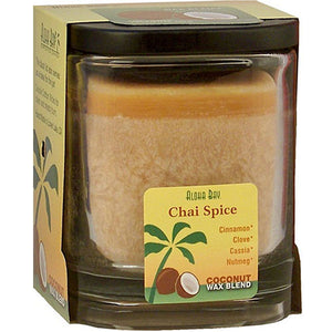 Eco Palm Square Jar - Chai Spice Light Brown 8 oz