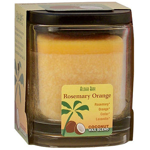 Eco Palm Square Jar - Rosemary Orange Peach 8 oz