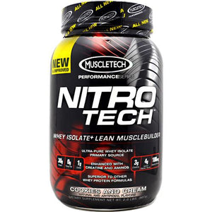 Nitro Tech Performance Series Whey Isolate - Cookies and Cream 2 lbs
