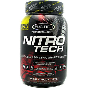 Nitro Tech Performance Series Whey Isolate - Milk Chocolate 2 lbs