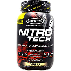 Nitro Tech Performance Series Whey Isolate - Vanilla 2 lbs