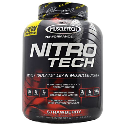 Nitro Tech Performance Series Whey Isolate - Strawberry 4 lbs