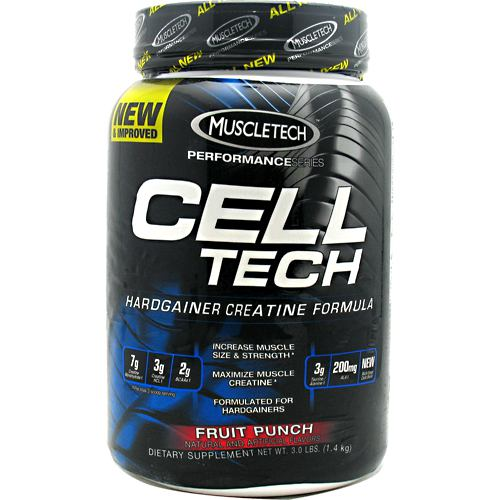 Cell Tech Performance Series Hardgainer Creatine Formula - Fruit Punch 3 lbs