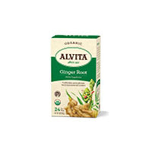 Organic Herbal Tea Ginger Root 24 BAGS by Alvita Teas
