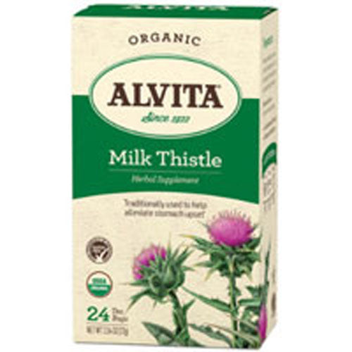 Organic Herbal Tea Milk Thistle 24 BAGS by Alvita Teas